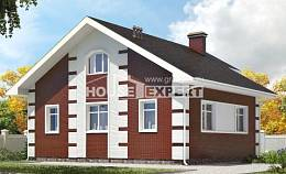 115-001-R Two Story House Plans with mansard, modest Models Plans