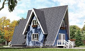 100-002-R Two Story House Plans with mansard, best house Custom Home
