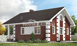 115-001-R Two Story House Plans with mansard roof, beautiful Ranch