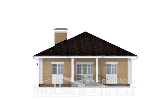 130-002-L One Story House Plans with garage in back, cozy Plan Online