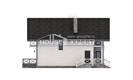 155-001-L Two Story House Plans and mansard and garage, modest Tiny House Plans