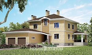 350-002-L Three Story House Plans with garage, best house Blueprints