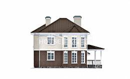 190-002-L Two Story House Plans with garage in front, best house Villa Plan