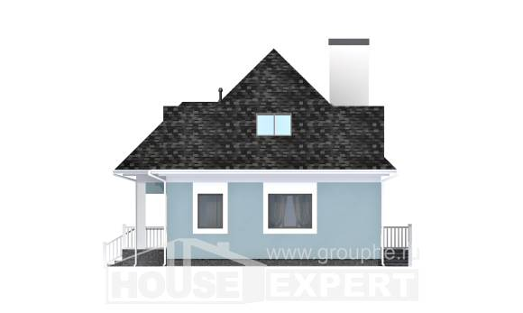 110-001-L Two Story House Plans and mansard, inexpensive Cottages Plans