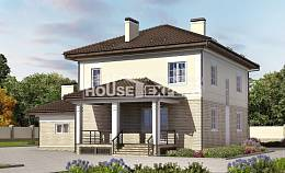 220-007-R Two Story House Plans with garage under, modern Building Plan