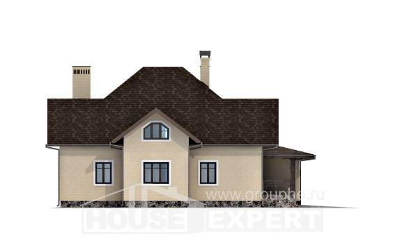 275-003-R Two Story House Plans with mansard roof and garage, classic Plans Free