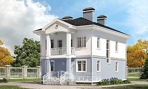120-001-R Two Story House Plans, modern Home Plans