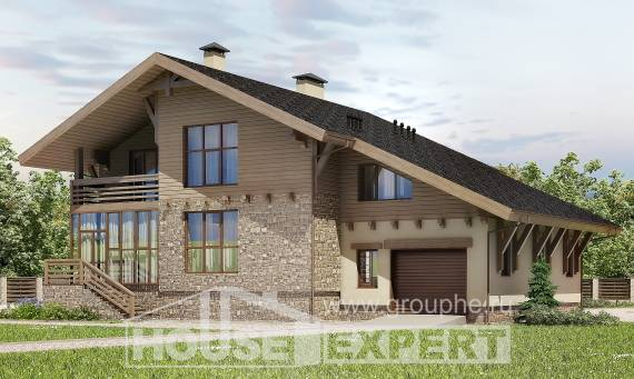 420-001-L Three Story House Plans with mansard with garage, beautiful Architects House