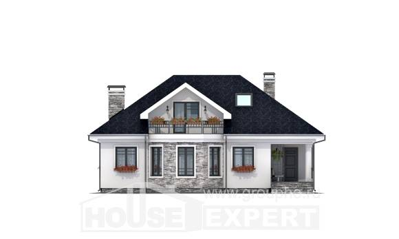 150-008-R Two Story House Plans with mansard, classic House Planes