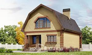 130-005-L Two Story House Plans and mansard, cozy Woodhouses Plans