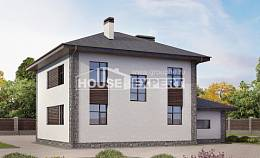 185-004-L Two Story House Plans with garage in back, spacious Woodhouses Plans