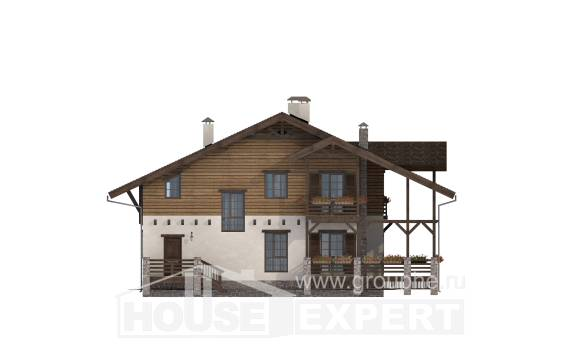 260-001-R Two Story House Plans and mansard, classic Models Plans