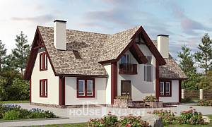 300-008-L Two Story House Plans and mansard with garage in front, best house Home House