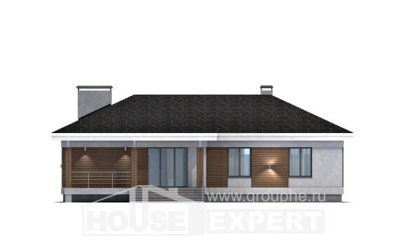 165-001-R One Story House Plans with garage in front, best house Blueprints of House Plans