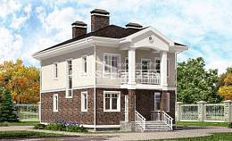 120-001-L Two Story House Plans, classic Architectural Plans