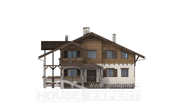 260-001-R Two Story House Plans with mansard, big House Plans