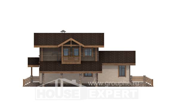 170-004-R Two Story House Plans with mansard with garage in back, best house House Blueprints