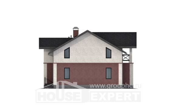 160-014-L Two Story House Plans, economical House Blueprints