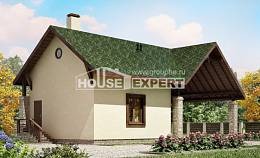 060-001-L Two Story House Plans with mansard with garage in front, a simple Architectural Plans