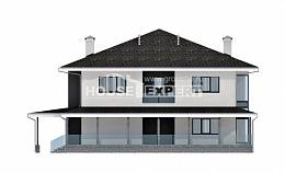 245-002-R Two Story House Plans with garage, spacious Design House
