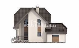 150-001-L Two Story House Plans with mansard roof and garage, best house Floor Plan