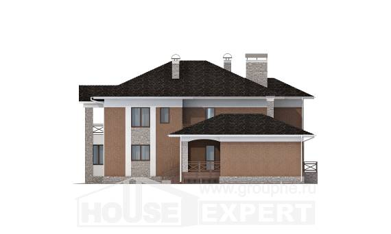 520-002-L Three Story House Plans with garage, big Plans To Build