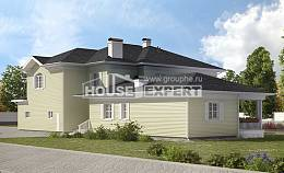 410-002-L Two Story House Plans with garage under, modern Blueprints