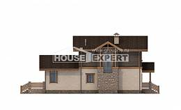 170-004-R Two Story House Plans with mansard roof with garage in back, the budget Tiny House Plans