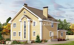 320-003-L Two Story House Plans, cozy Tiny House Plans