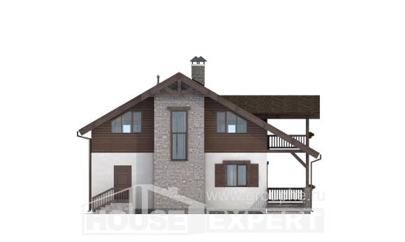150-004-L Two Story House Plans with mansard, available Drawing House