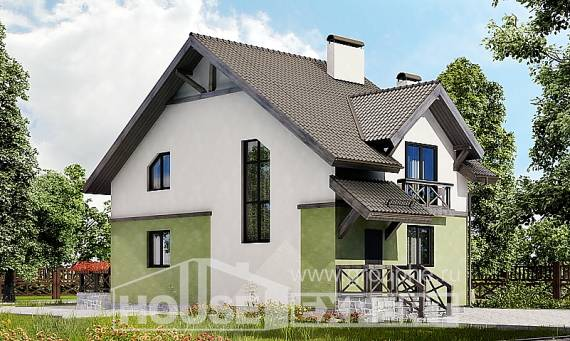120-003-R Two Story House Plans, small Construction Plans