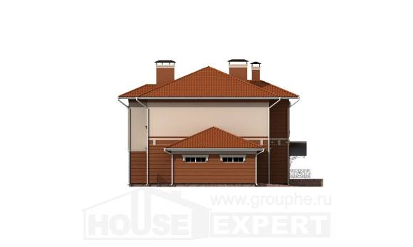 285-001-L Two Story House Plans with garage in front, luxury Home Blueprints