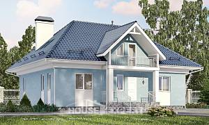 200-002-R Two Story House Plans with mansard roof, cozy Villa Plan