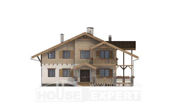 260-001-L Two Story House Plans with mansard, beautiful Models Plans