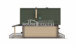 160-007-R Two Story House Plans with mansard roof with garage in front, the budget Plan Online