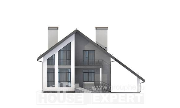 170-009-L Two Story House Plans with mansard with garage, best house Cottages Plans
