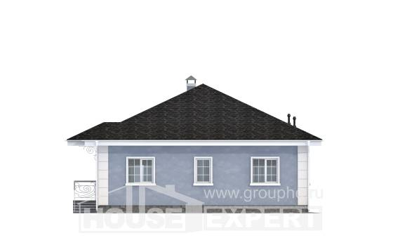 100-001-R One Story House Plans, cozy Models Plans