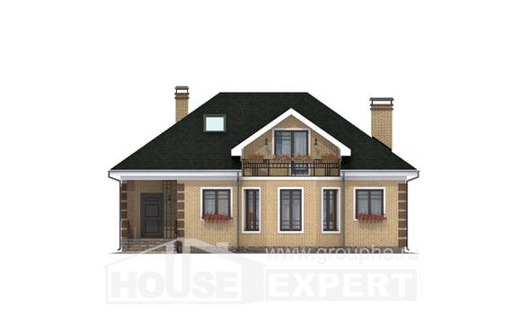 150-013-L Two Story House Plans with mansard, a simple Plan Online