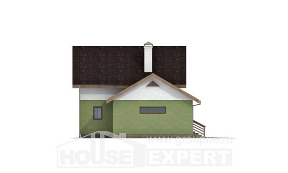 120-002-R Two Story House Plans with mansard roof with garage in front, small Architectural Plans