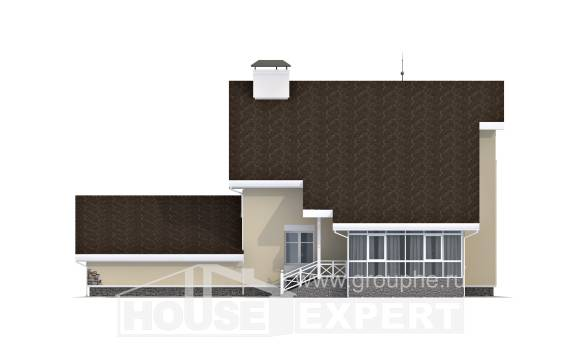 275-001-L Two Story House Plans with mansard and garage, a huge Building Plan