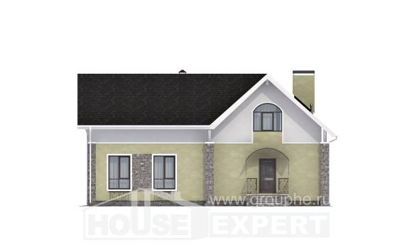 150-012-R Two Story House Plans with mansard, a simple Ranch