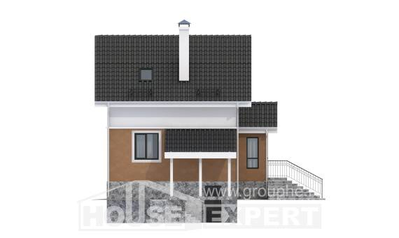 100-005-L Two Story House Plans and mansard, a simple House Plan