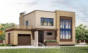 220-003-L Two Story House Plans with garage in front, luxury Cottages Plans