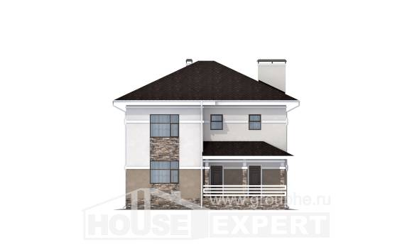 150-014-R Two Story House Plans, cozy House Plan