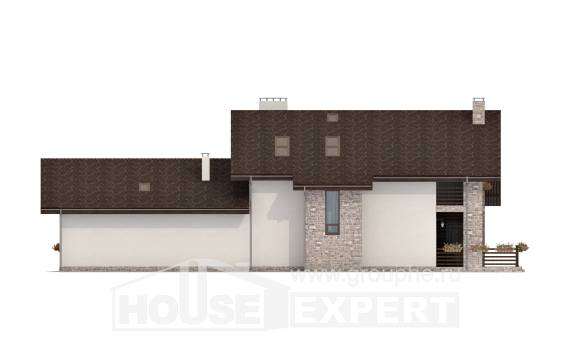 480-001-L Two Story House Plans and mansard, a huge House Planes
