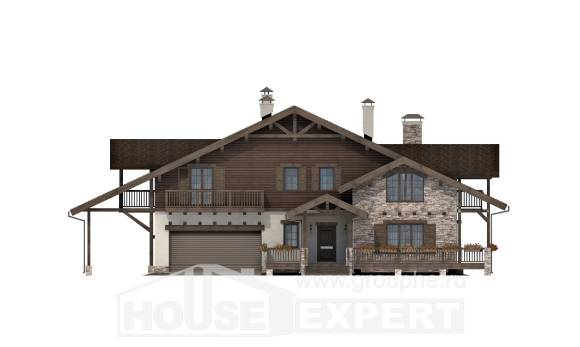 340-003-R Two Story House Plans with mansard roof with garage, beautiful Design House
