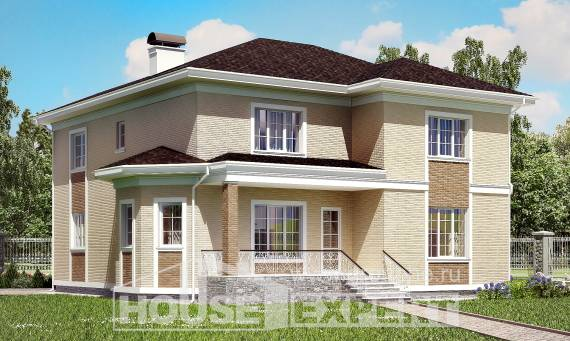 335-001-L Two Story House Plans with garage under, best house Home House
