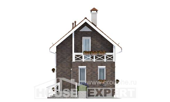 045-001-L Two Story House Plans with mansard roof, inexpensive Blueprints of House Plans