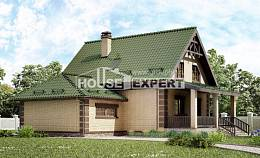 160-007-R Two Story House Plans with mansard roof with garage in front, a simple Home Blueprints