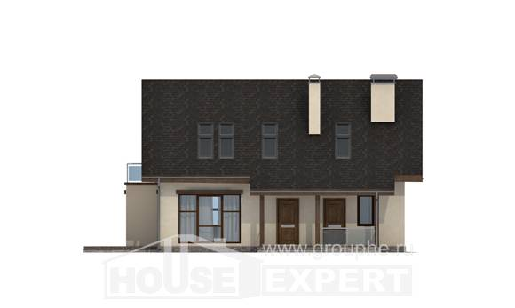 155-012-L Two Story House Plans with mansard, beautiful Home Blueprints